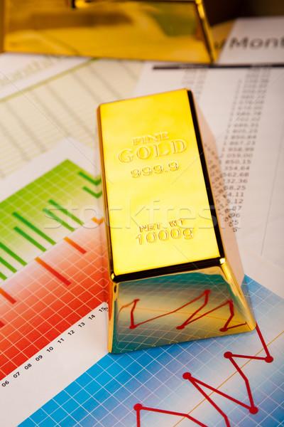 золото баров финансовых деньги металл банка Сток-фото © JanPietruszka