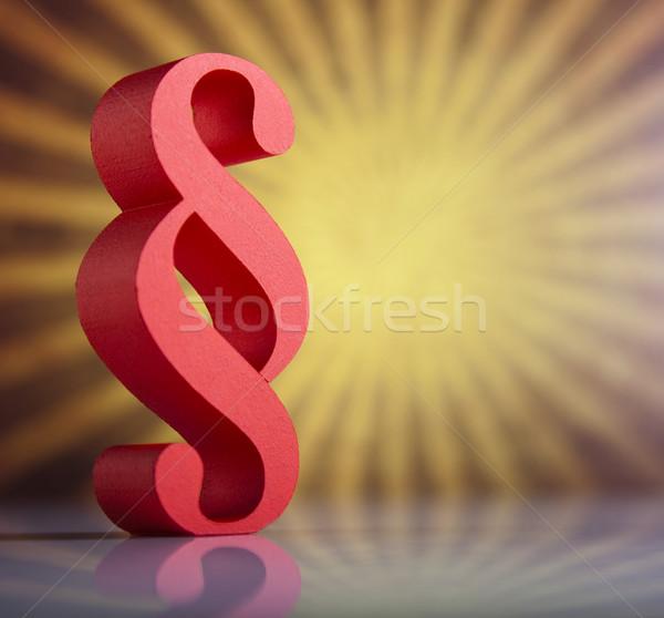Paragraph sign symbol, natural colorful tone Stock photo © JanPietruszka