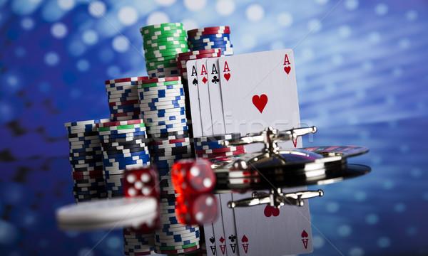 Giocare roulette casino poker chips divertimento Foto d'archivio © JanPietruszka