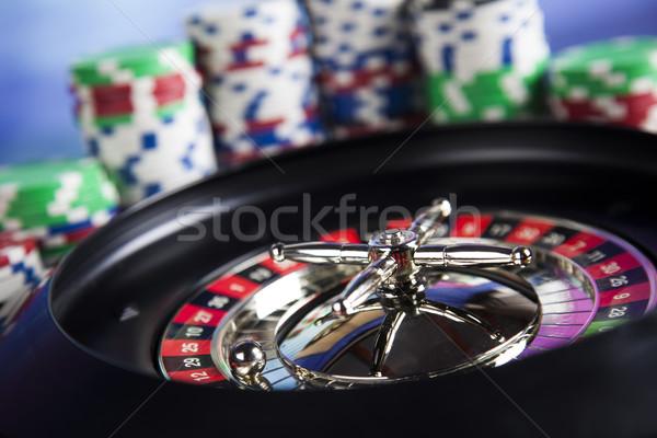 Casino Roulette Spaß schwarz Stock foto © JanPietruszka