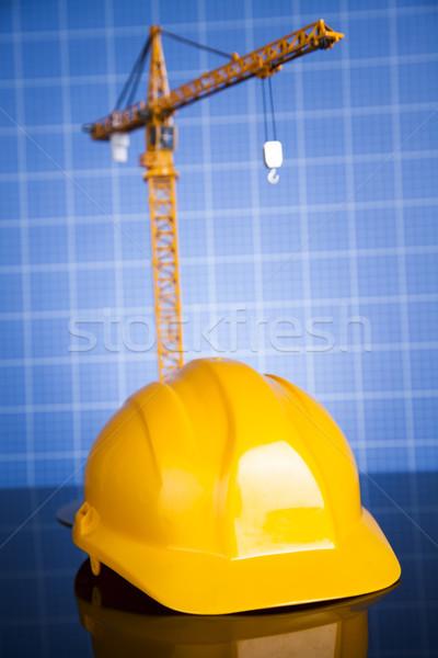 Project tekeningen gebouw bouw business financieren Stockfoto © JanPietruszka