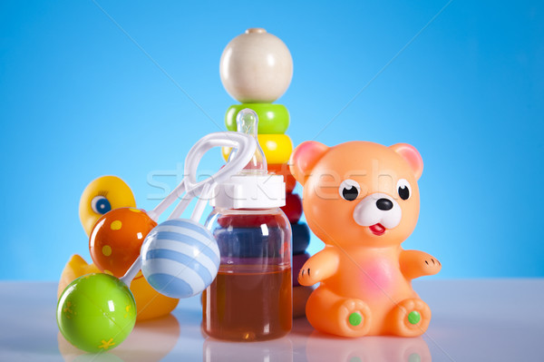 Baby toys and bear, bright tone vivid composition Stock photo © JanPietruszka