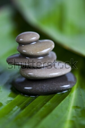 Balanced zen stones, magical ambient atmosphere theme Stock photo © JanPietruszka