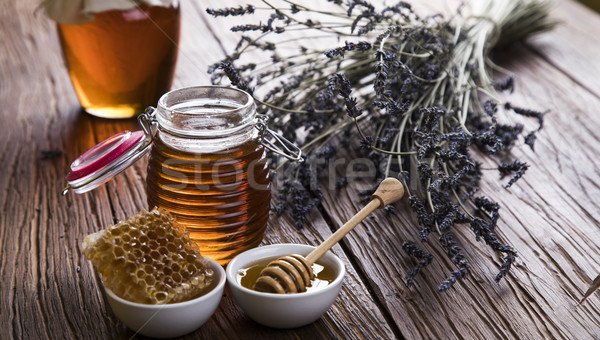 Sweet honey in the comb Stock photo © JanPietruszka