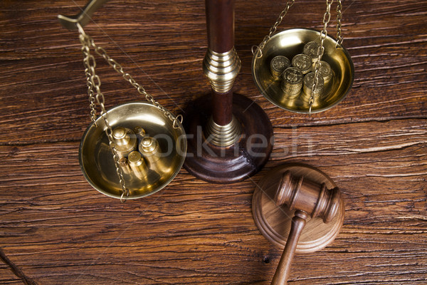 Court gavel,Law theme, mallet of judge Stock photo © JanPietruszka