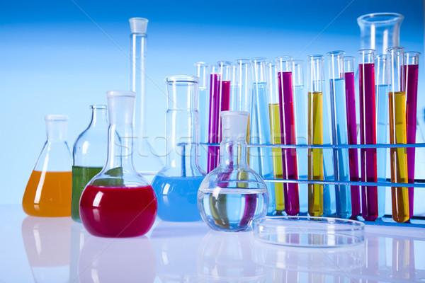 Stock fotó: Vegyi · laboratórium · üvegáru · felszerlés · hely · tudományos · kutatás