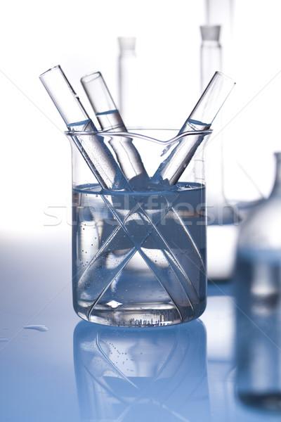 Chemicznych laboratorium wyroby szklane wyposażenie technologii zdrowia Zdjęcia stock © JanPietruszka