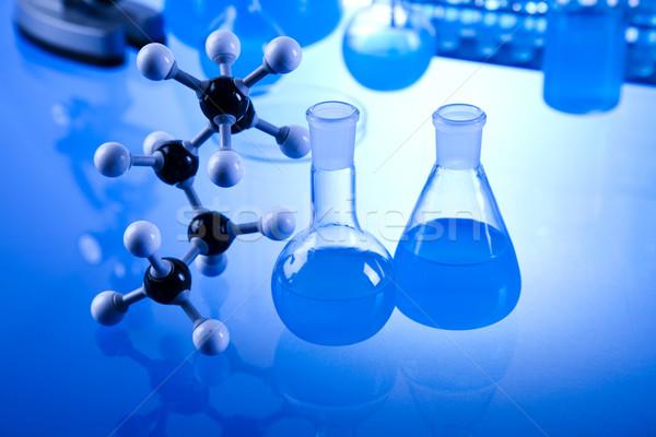 Stok fotoğraf: Kimyasal · laboratuvar · züccaciye · teknoloji · cam · mavi