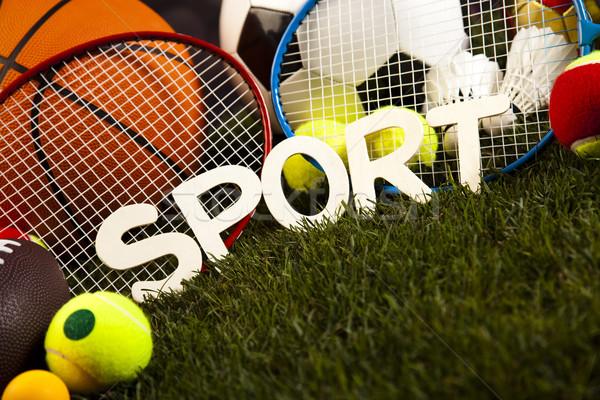 Spel sportartikelen natuurlijke kleurrijk sport voetbal Stockfoto © JanPietruszka