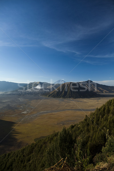 Bromo volcano, Java, Indonesia, bright colorful vivid theme Stock photo © JanPietruszka
