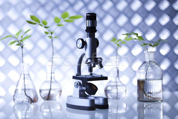 Laboratórium bio organikus modern orvosi üveg Stock fotó © JanPietruszka