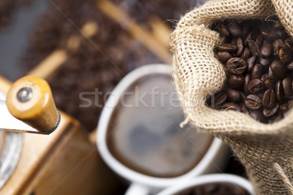 Kahve çekirdekleri canlı parlak doku gıda çerçeve Stok fotoğraf © JanPietruszka
