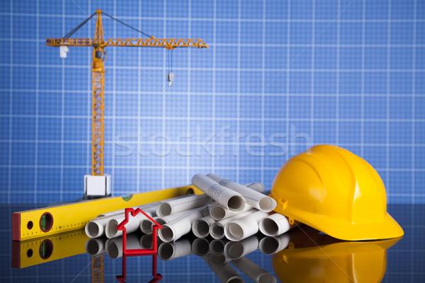 проект здании строительство бизнеса Финансы Сток-фото © JanPietruszka