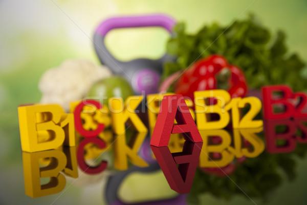 Vitamina fitness dieta estilo de vida saúde esportes Foto stock © JanPietruszka