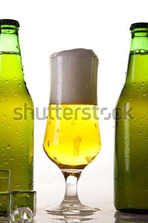 Bier hellen lebendige Alkohol Party Tabelle Stock foto © JanPietruszka