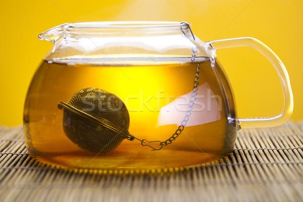 Сток-фото: Кубок · чай · ярко · красочный · яркий · цветок