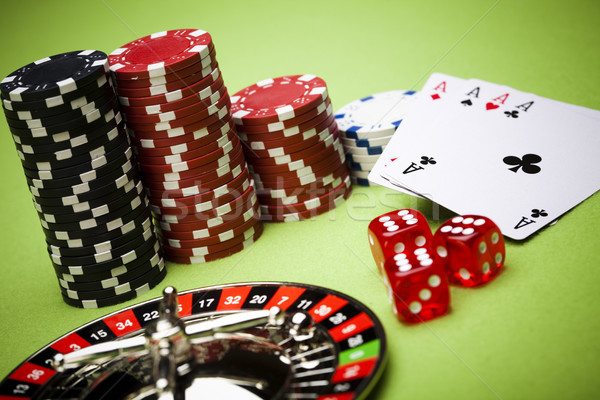 Chips and Casino, ambient light saturated theme Stock photo © JanPietruszka