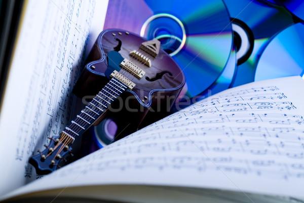 Gitara jasne kolorowy żywy komputera vintage Zdjęcia stock © JanPietruszka