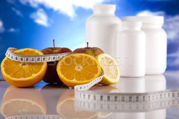 Ek spor diyet uygunluk enerji yağ Stok fotoğraf © JanPietruszka