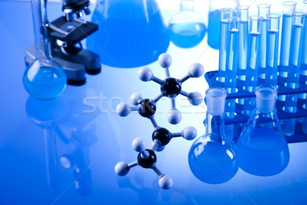химического лаборатория изделия из стекла технологий стекла синий Сток-фото © JanPietruszka