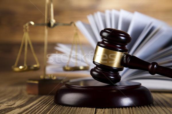 Bois marteau justice juridiques avocat juge Photo stock © JanPietruszka