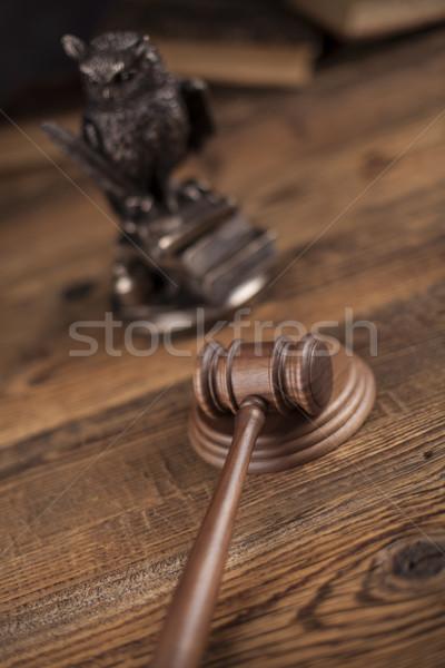 Gabela justiça lei martelo tribunal legal Foto stock © JanPietruszka