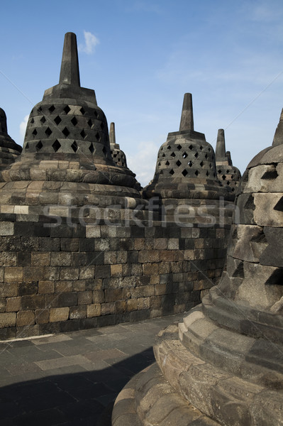 Borobudur, ancient buddhist temple,  Indonesia Stock photo © JanPietruszka