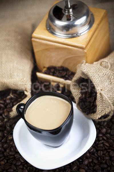 Geleneksel kahve fincanı fasulye doku gıda grup Stok fotoğraf © JanPietruszka