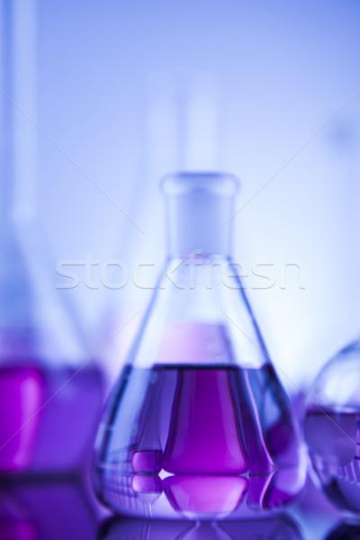 Laboratórium üvegáru üveg kémia tudomány egészség Stock fotó © JanPietruszka