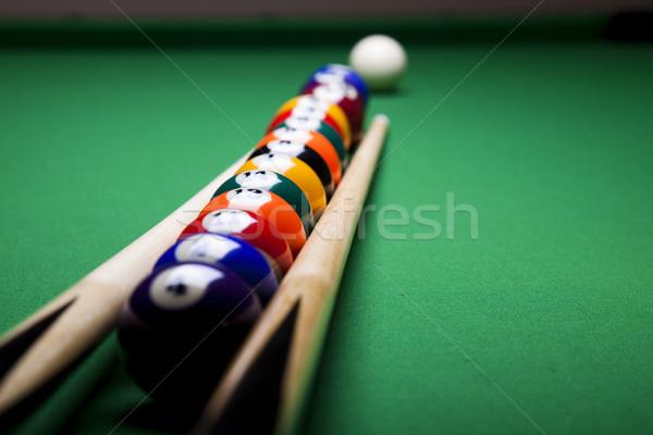 Snooker játékos élénk színek természetes sport Stock fotó © JanPietruszka