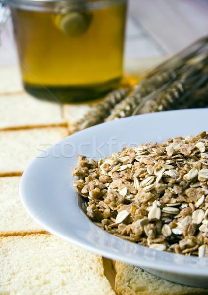 Bioélelmiszer egészséges vidéki háttér reggeli eszik Stock fotó © JanPietruszka