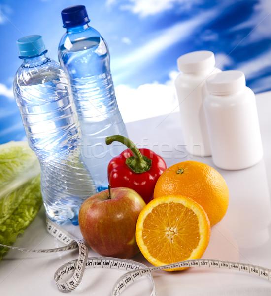 Dieta fitness deporte energía grasa cielo azul Foto stock © JanPietruszka
