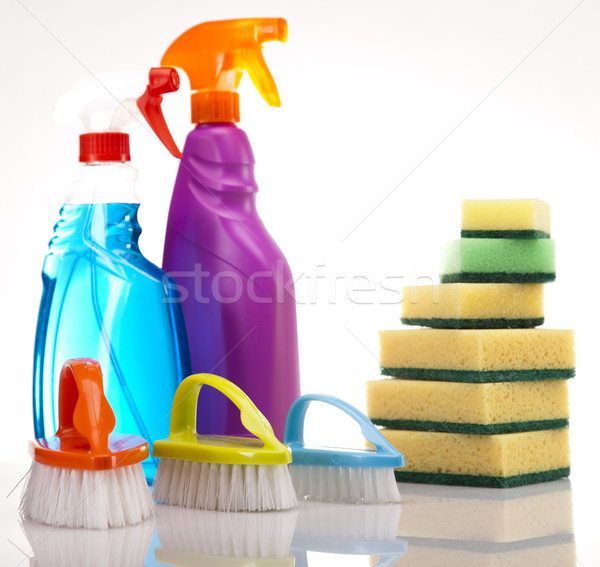 Assorted cleaning products Stock photo © JanPietruszka