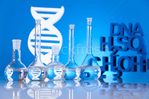 Stock photo: DNA molecules, Laboratory