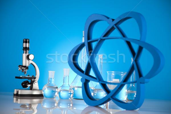 Foto stock: Laboratório · medicina · ciência · garrafa · lab · química