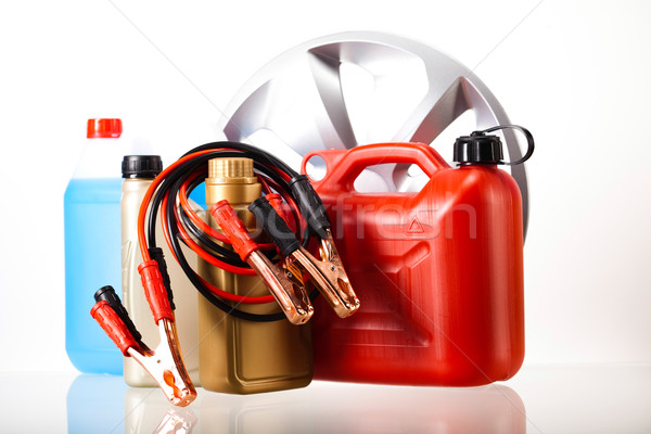 Parts Accessories on vivid moto concept Stock photo © JanPietruszka