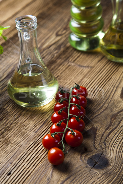 Olive oil bottles, Mediterranean rural theme Stock photo © JanPietruszka