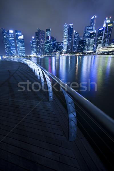 Skyline of Singapore, financial centre Stock photo © JanPietruszka