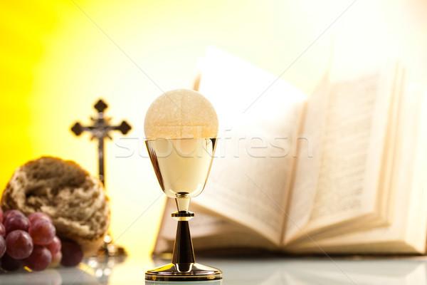 święty komunii jasne Jezusa chleba Biblii Zdjęcia stock © JanPietruszka