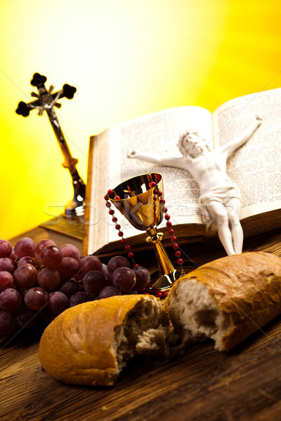 Christelijke heilig communie heldere jesus brood Stockfoto © JanPietruszka