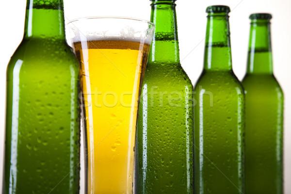 Bière ensemble lumineuses dynamique alcool fête Photo stock © JanPietruszka