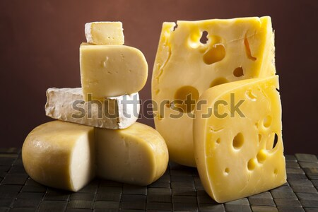 Piece of  cheese, saturated ambient rural theme Stock photo © JanPietruszka
