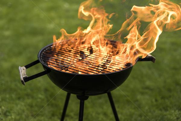 Fire background, grill Stock photo © JanPietruszka