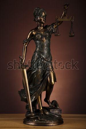 Dame justice droit femme chaîne Homme Photo stock © JanPietruszka
