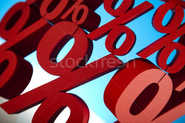 赤 パーセンテージ シンボル ビジネス にログイン 銀行 ストックフォト © JanPietruszka