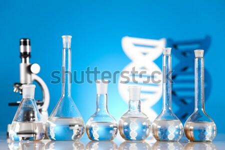 Estéril laboratório artigos de vidro medicina ciência garrafa Foto stock © JanPietruszka