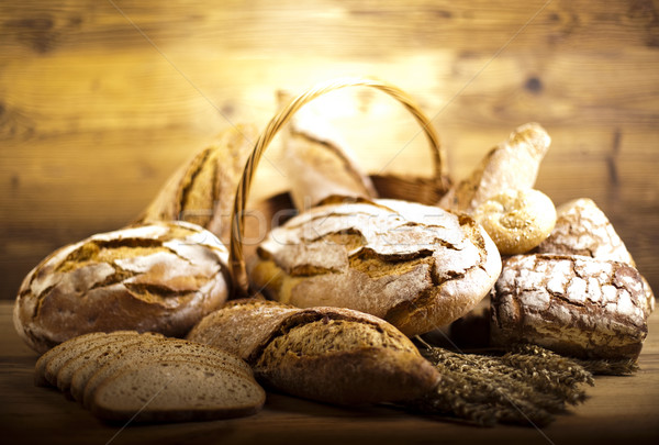 Stock photo: Composition with loafs of bread