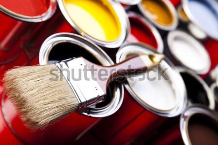 Ecset fényes színes absztrakt terv otthon Stock fotó © JanPietruszka