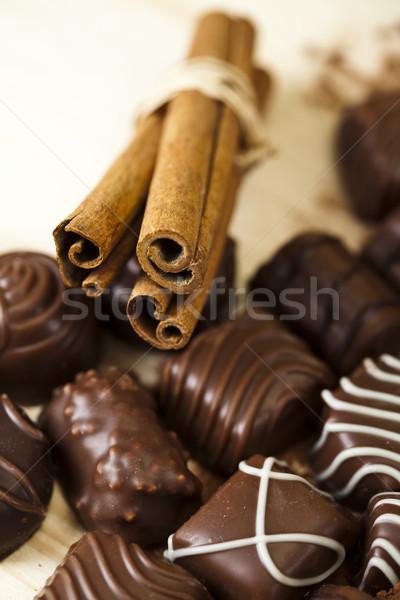 Chocolate and Nuts, vivid colors, natural tone Stock photo © JanPietruszka