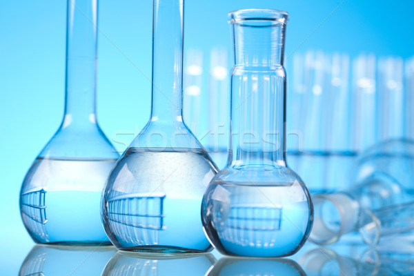 Laboratorium wyroby szklane medycznych laboratorium chemicznych narzędzie Zdjęcia stock © JanPietruszka